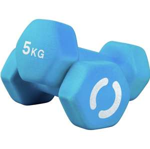 Opti Neoprene Dumbbell Set - 2 x 5kg - £19.99 + free Click and Collect @ Argos