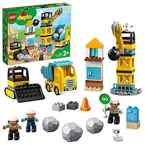 LEGO 10932 DUPLO Town Wrecking Ball Demolition Construction Set with Toy Truck, Crane and Bulldozer, Toys for 2+ Toddlers £35 @ Amazon