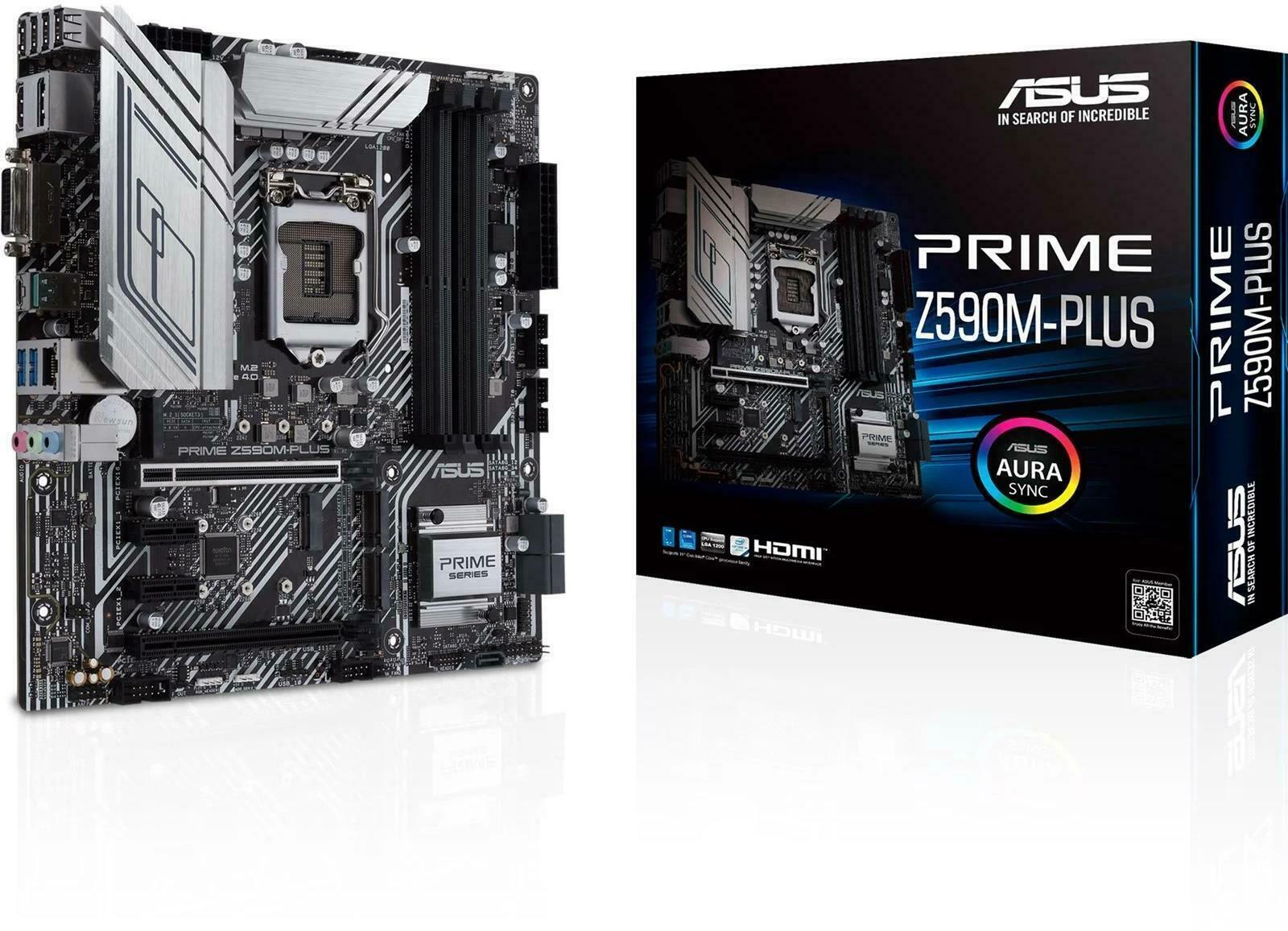 ASUS Prime Z590m Plus (1200 socket, mATX) - £152.99 delivered using code @ box-deals / eBay