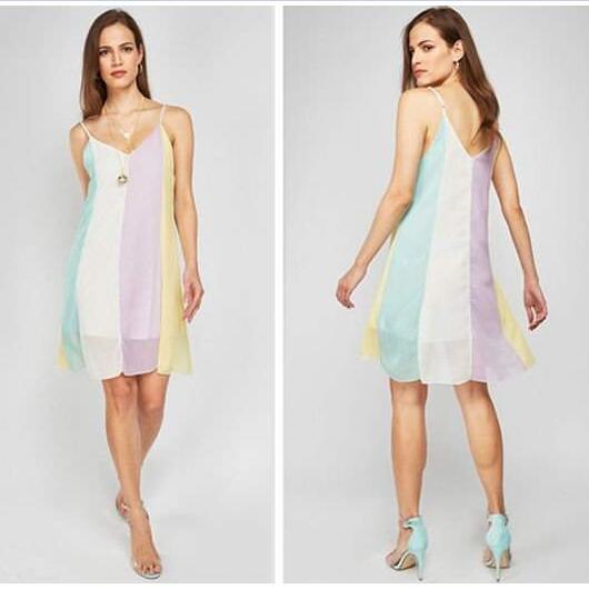 Rainbow Women's Swing Dress / Beach Dress £3.98 delivered @ Wowcher