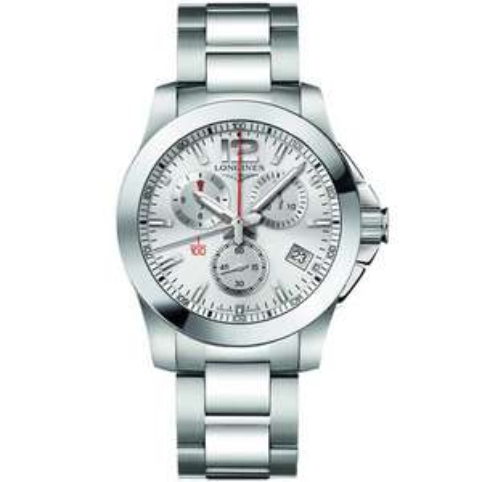 Longines Mens Conquest Chronograph Silver Dial Bracelet Watch £875 @ TH Baker