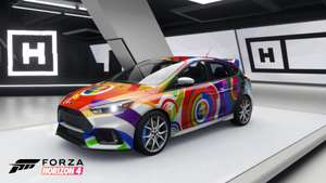 FREE XBOX 2021 Forza Rainbow livery Ford Focus RS for Forza Horizon 4 and Forza Motorsport 7