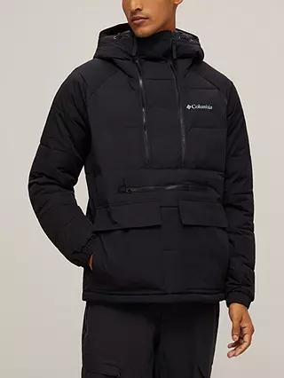 Columbia Kings Crest™ Men's Water Resistant Pullover Jacket, Black, Free C&C £100 at John Lewis & Partners