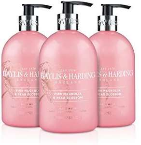 Pack of 3 Baylis & Harding Pink Magnolia and Pear Blossom Hand Wash, 500 ml - £2.12 (+£4.49 Non Prime) @ Amazon