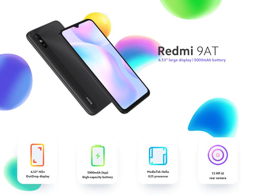 Xiaomi Redmi 9AT £74 at Vodafone (+£10 top up)