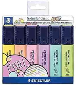 STAEDTLER 364 CWP6 Textsurfer Classic Pastel Highlighter (Case with 6 Colours Pastel) - £3.96 / +£4.49 non prime @ Amazon