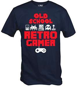 6TN Mens' Old School Retro Gamer T Shirt £5.95 Prime (+£2.99 non Prime) Sold by 6 TEE NINERS and Fulfilled by Amazon.