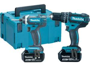 Brushed Makita drill/impact set with charger - DLX2131J £177 @ FFX
