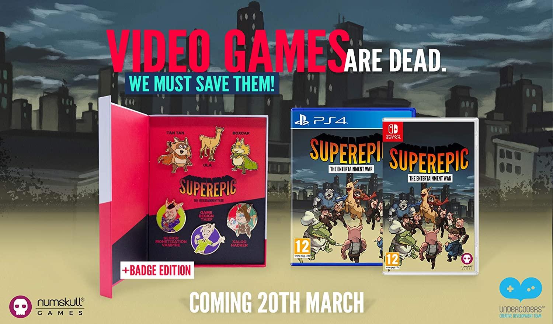SuperEpic: Entertainment War (Nintendo Switch) - Badge Collector's Edition £15.99 @ Base