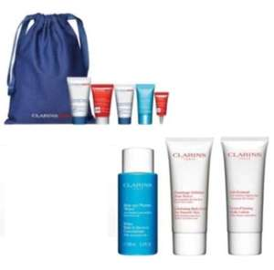 2 Free Gifts when you buy 2 selected Clarins 1 To Be Skincare Online only + Click and Collect £1.50 @ Boots
