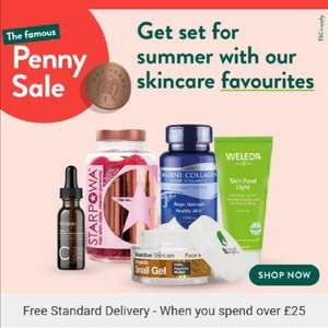 Buy 1 get 1 for a Penny + 20% off £20 spend with Code ( £1.99 collection / Free Delivery with £25 spend) @ Holland and Barrett