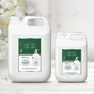 Baylis & Harding Jasmine & Apple Blossom Anti-Bacterial Hand Wash 5 Litre Refill (Pack of 2, total 10 litres) - £20.97 @ Amazon