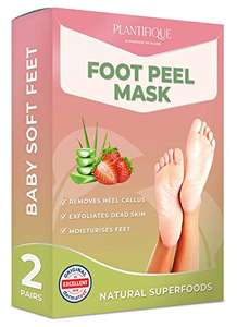 Foot Peel Mask - Strawberry Feet Peeling Mask 2 Pack for £11.99 (+£4.49 NP / £11.39 S&S) @ Amazon