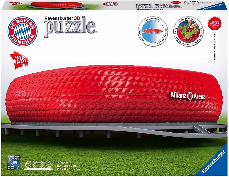Ravensburger 12526 Allianz Arena 3D Puzzle, 216 pieces - £7.44 (+£4.49 non Prime) @ Amazon