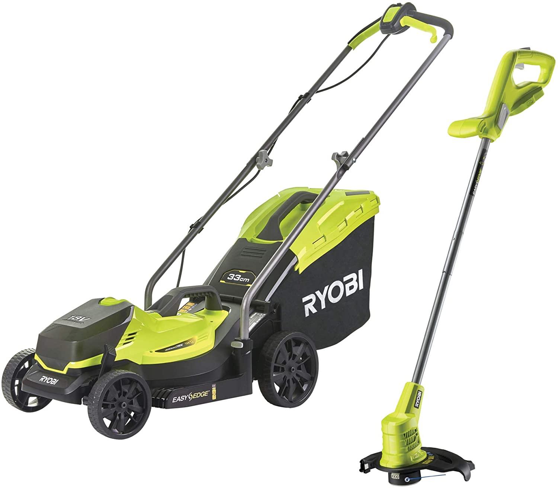 Ryobi 18V ONE+ Cordless Lawnmower and Grass Trimmer Kit (1 x 4.0Ah) - £209.99 @ Amazon