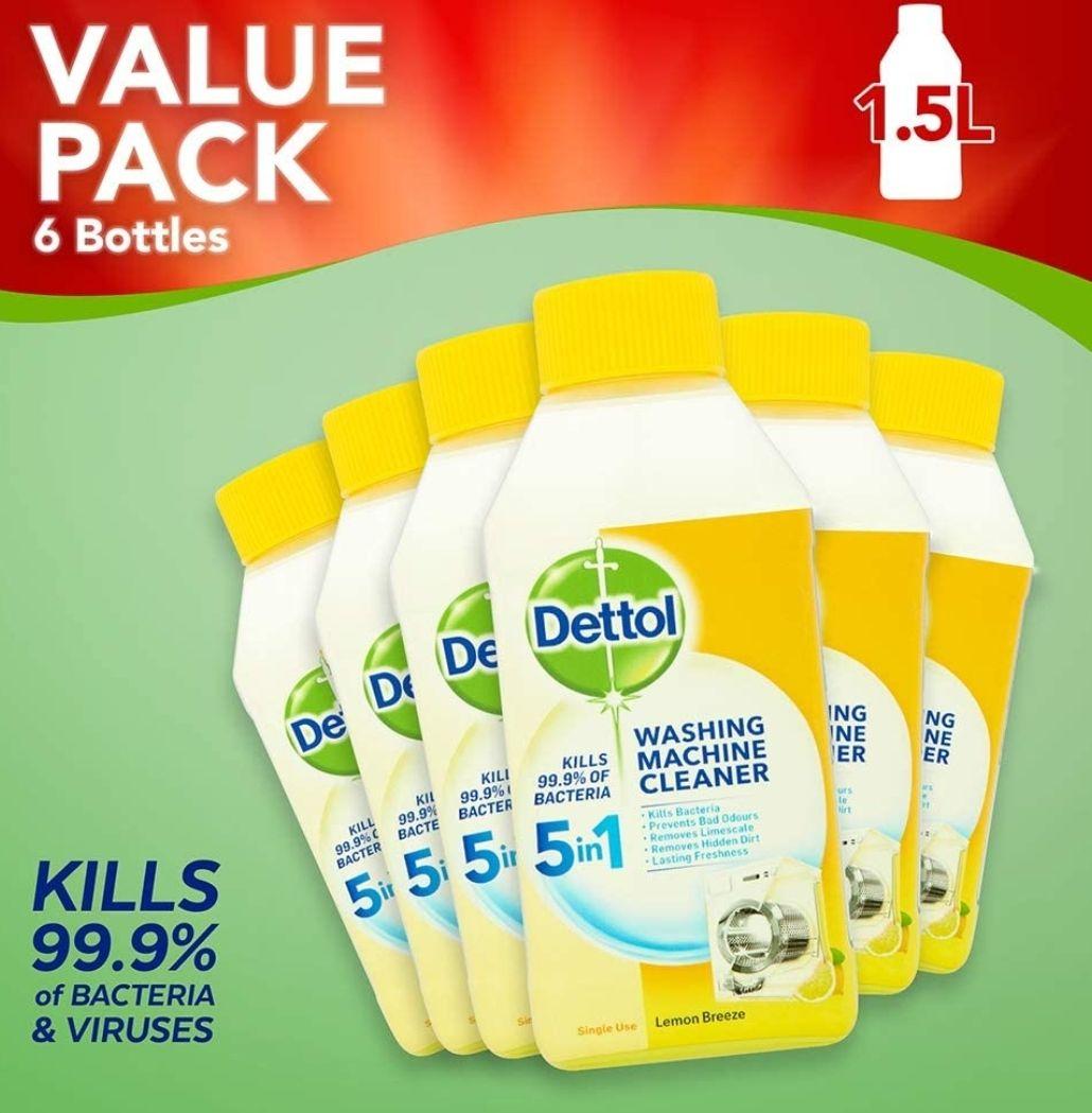 Dettol Washing Machine Cleaner Lemon Multipack, Pack of 6 x 250 ml - £13.94 (+£4.49 Non Prime) @ Amazon