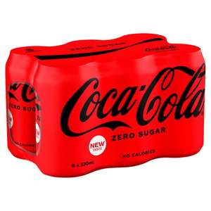 Coca Cola Zero 6x330ml cans now £1 at Tesco Purley (south London)