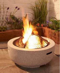 Maia Fire Pit with steel cooking grill £94.98 delivered @ Studio