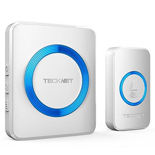 TECKNET Wireless Doorbell - 300m Range, 38 Chimes, 4-Level Volume & Blue Light for £10.99 Prime (+£4.49) delivered @ Red.EU.Store / Amazon
