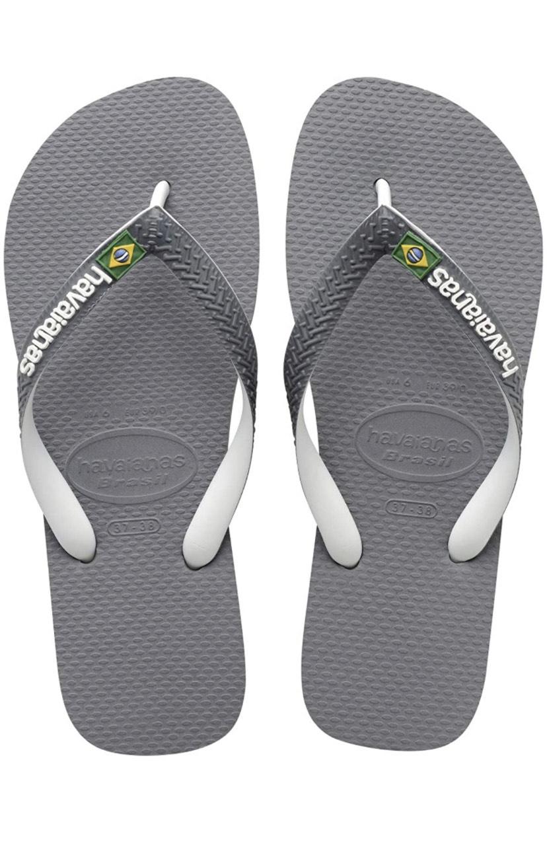 Havaianas Unisex's Brasil Mix Flip Flops - 11/12 UK , Steel Grey White White £8.81 Prime (+£4.49 non Prime) Delivered @ Amazon