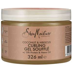 Shea Moisture Coconut & Hibiscus Curling Gel Souffle, with Silk Protein & Neem Oil 326ml £3.40 delivered (+£4.49 non prime) @ Amazon