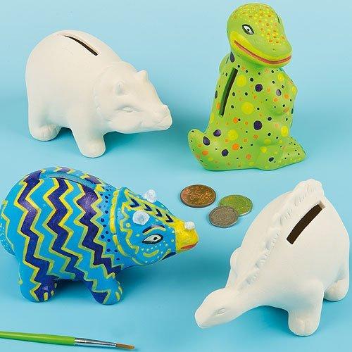 Dinosaur Ceramic Coin Banks (Box of 3) £4.89 (Prime) + £4.49 (non Prime) at Amazon