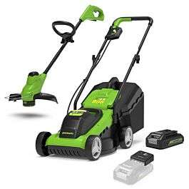 Greenworks 24v Cordless Lawnmower and Grass Trimmer Kit with 2Ah Battery and Charger £149.99 @ Robert Dyas