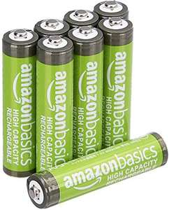 Amazon Basics AAA High-Capacity Rechargeable Batteries, (8-Pack) Pre-charged £6.29 (+£4.49 P&P Non-Prime)