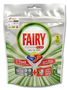 Fairy Platinum Plus All In One X 5 tablets reduced £0.50p Sainsbury's Sutton