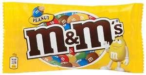 M&Ms Peanut 45g - 5 for £1 - Farmfoods Cumnock