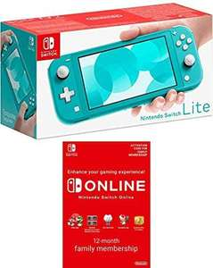 Nintendo Switch Lite - Turquoise + Switch Online 12 Months [Download Code] £182.89 @ Amazon