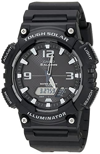 Casio Mens Five Alarm Solar Powered Illuminator Black Watch, £27.84 sold by Amazon US at Amazon (UK Mainland)
