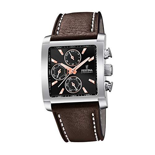 Festina Mens Chronograph Quartz Watch with Leather Strap F20424/4 £43.77 at Amazon