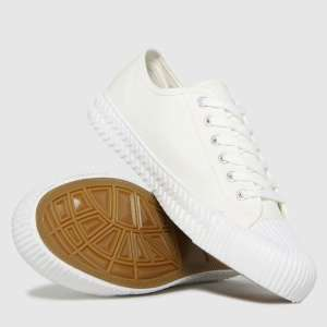 Schuh Mens White warren canvas low trainers £9.99 (Free click & collect) @ Schuh