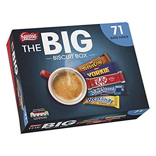 NESTLE The Big Biscuit Box, Chocolate Biscuit Bars x71 £10.29 Prime (+£4.49 Non Prime) @ Amazon