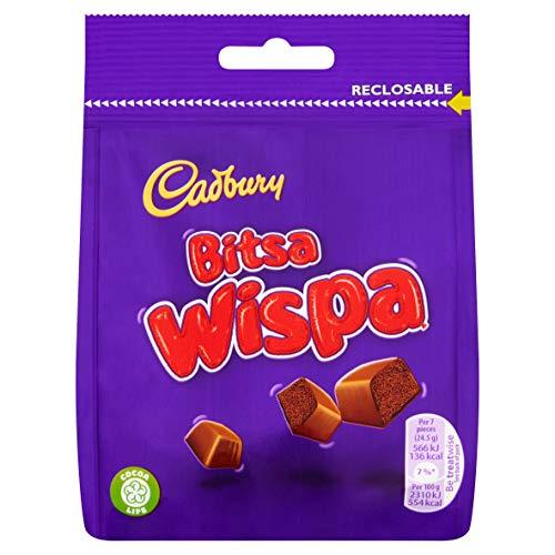 Cadbury Bitsa Wispa Chocolate Bag, 95 g, Pack of 10 £8.64 (+£4.49 non-prime) @ Amazon