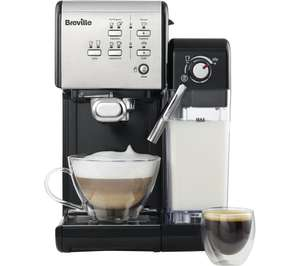 BREVILLE One-Touch VCF107 Coffee Machine - Black & Chrome only £149 @ Currys PC World