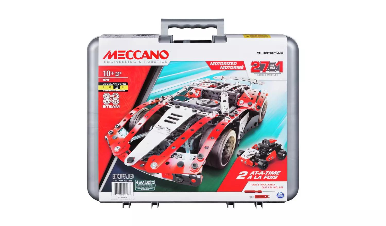 Meccano 27-in-1 Supercar S.T.E.A.M Building Set £18 @ Argos Free click & collect
