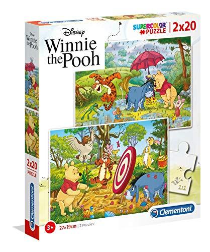 Clementoni - 24516 - Supercolor Puzzle for children - Winnie The Pooh - 2 x 20 Pieces £1.97 + £4.49 Non Prime @ Amazon