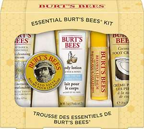 Burt's Bees Essential Gift Set, 5 Travel Size Products - £6.02 (+£4.49 Non-Prime) 25% Voucher & 10% S&S £3.91 @ Amazon