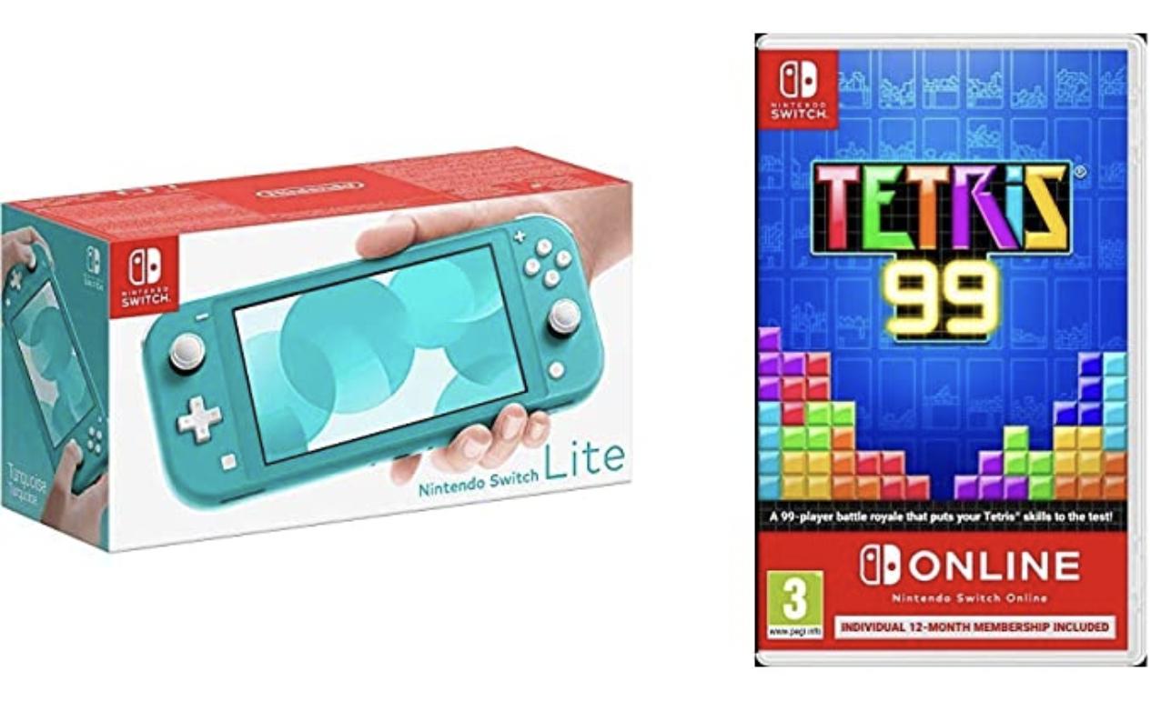 Turquoise Nintendo Switch Lite + Switch Online 12 Month + Tetris 99 - £181.90 @ Amazon