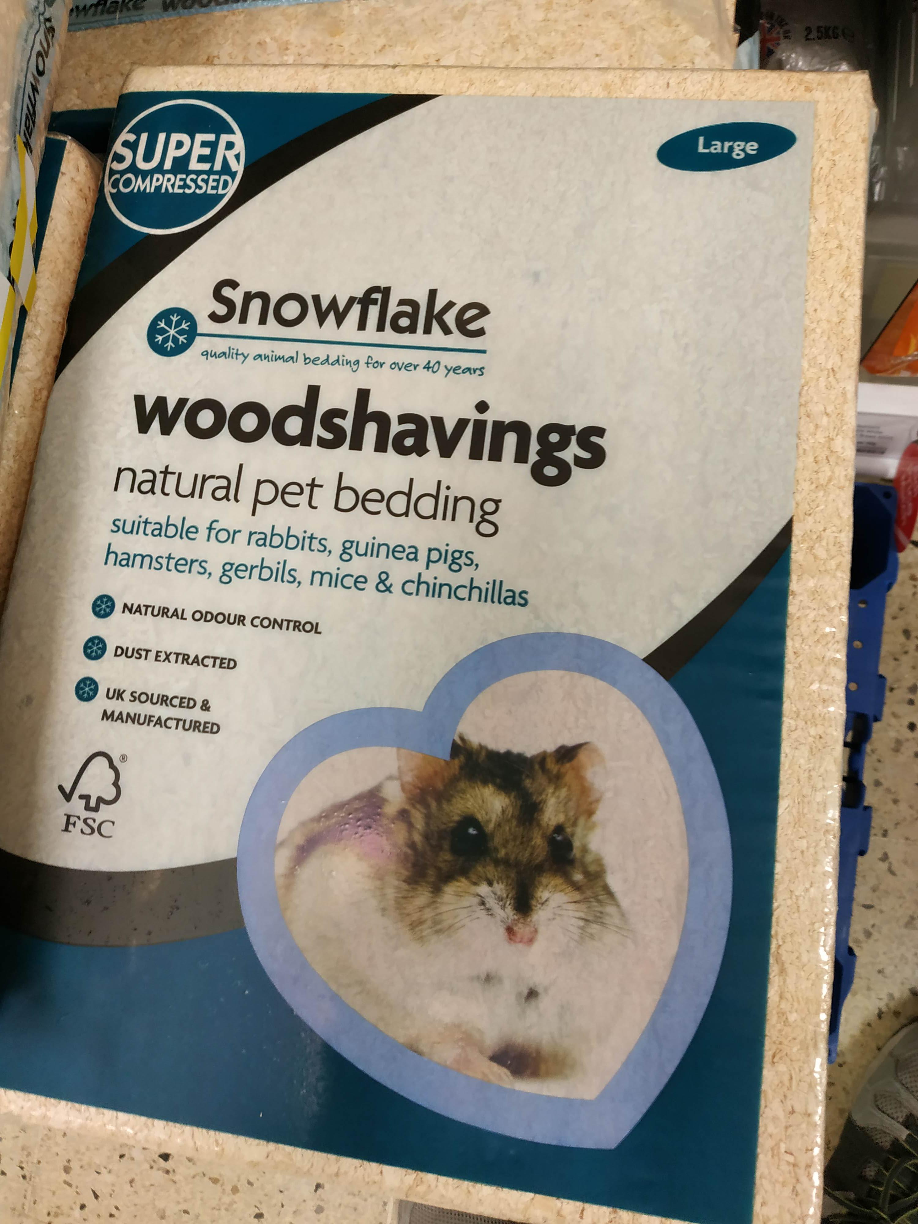 Soft wood shavings Large size 75p @ Tesco Harlesden