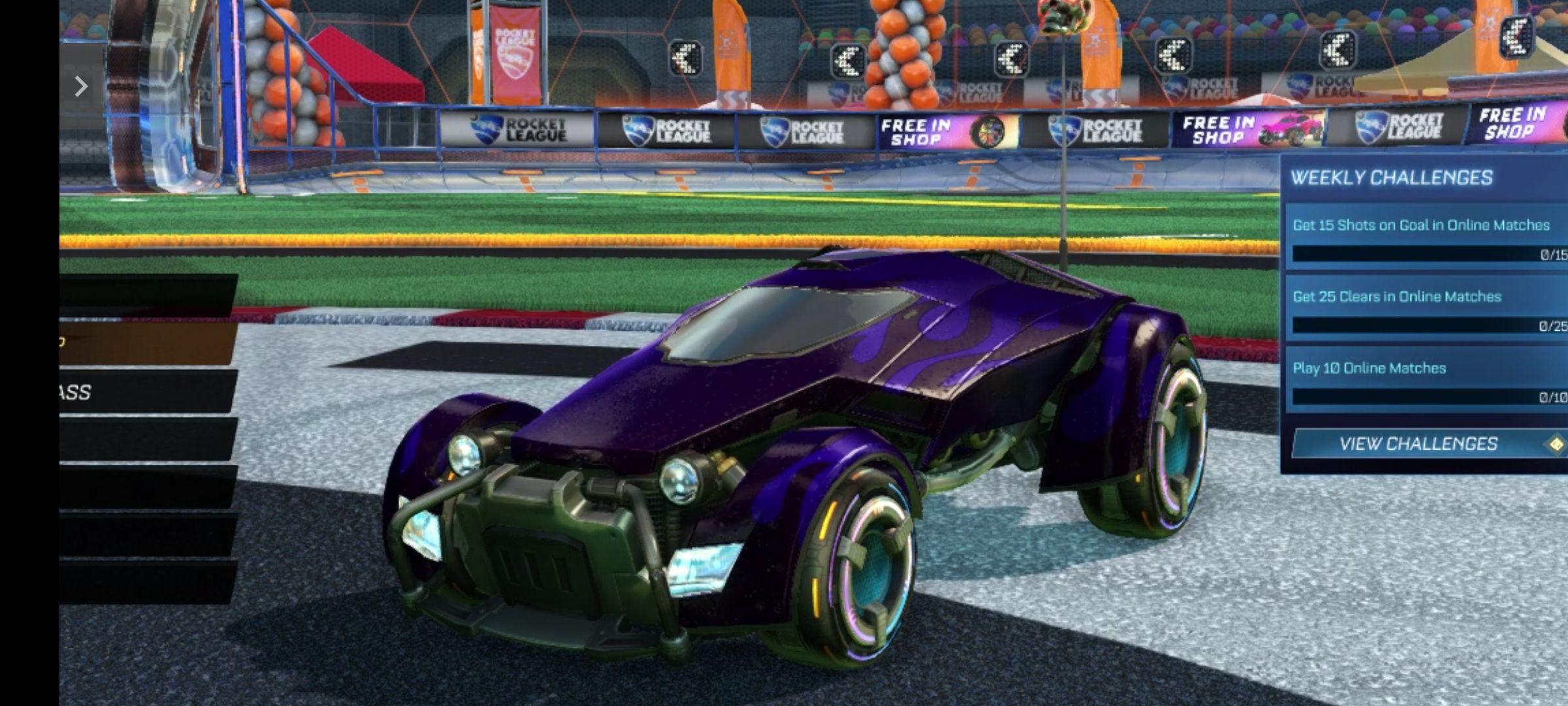Claim free SARPBC-10 Wheels in Rocket League via Epic Games
