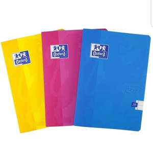 Oxford Touch, Exercise Books A5 Lined, A5 Notebooks, 120 Page, Assorted, Pack of 3 £1.87 (+£4.49 Non Prime) @ Amazon