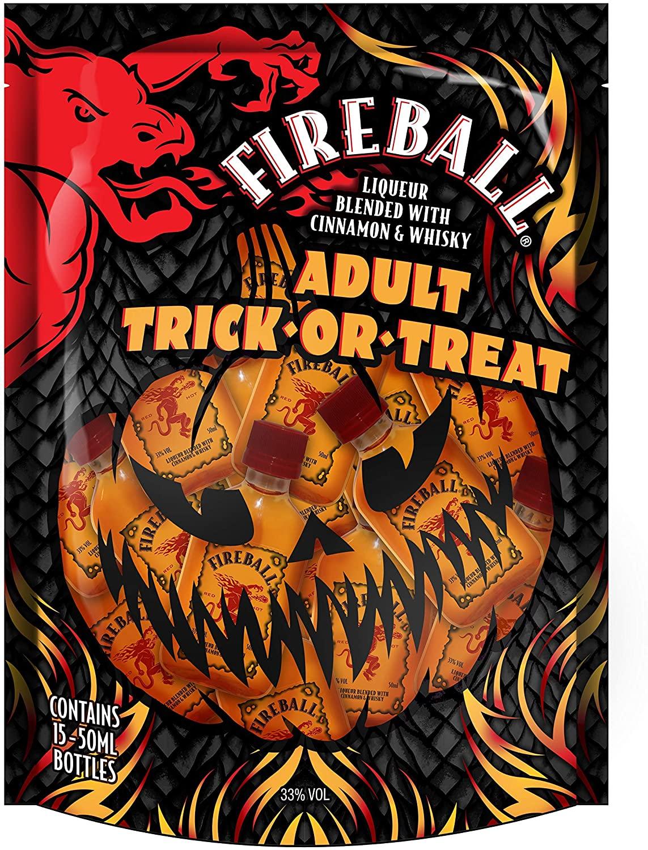 Fireball Cinnamon Whisky Liqueur, Halloween Trick or Treat Bag, 5 cl x 15 - £10.19 Prime / +£4.49 non Prime @ Amazon