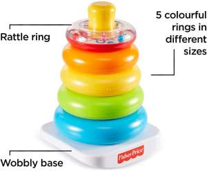 Fisher Price Stacking Toy Rings - £12.99 Prime / +£4.49 non Prime Sold by Mytoyfactory and Fulfilled by Amazon