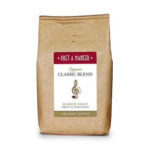 Pret A Manger Organic Classic Blend Ground Coffee 500g £3.88 / £3.70 S&S (Prime) + £4.49 (non Prime) at Amazon