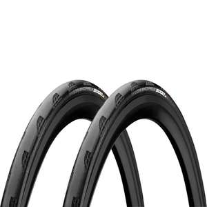 Continental Grand Prix 5000 Clincher Road Tyre Twin Pack - Black 4hrs only 23/25/28mm - £67.99 @ ProBikeKit