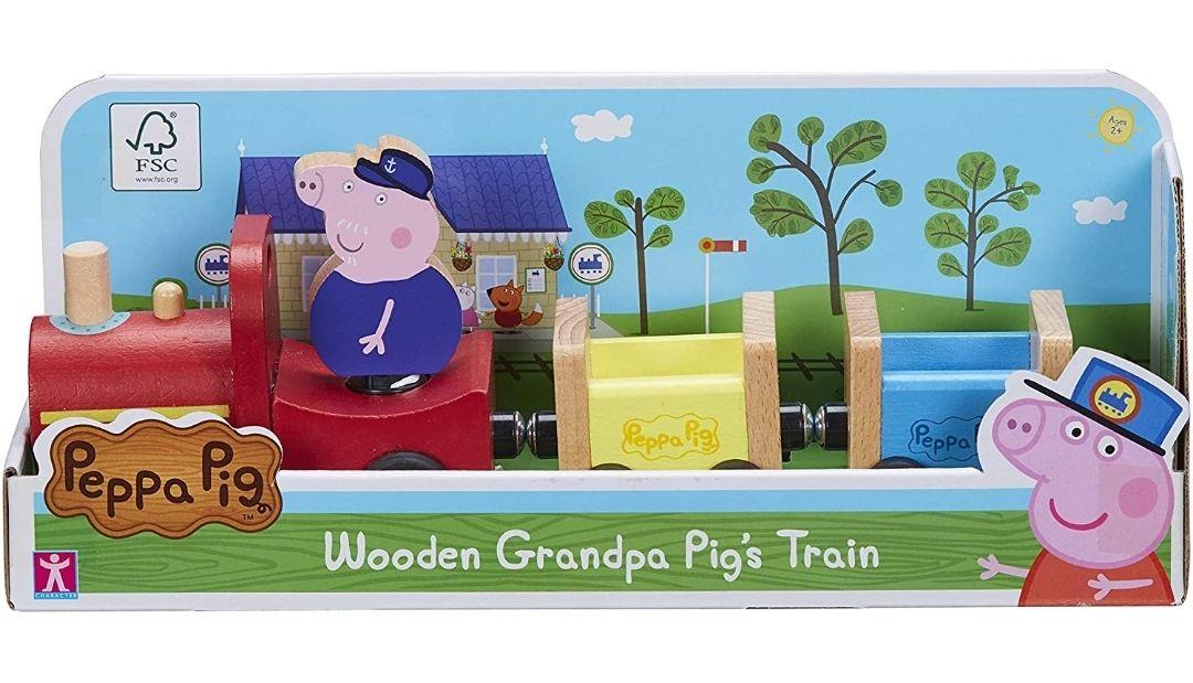 Peppa Pig 07210 Wooden Grandpa Pigs Train - £14.99 (+£4.49 Non Prime) @ Amazon