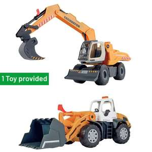 Chad Valley Auto City Large Construction - Excavator or Bulldozer - £6 Each Using Click & Collect @ Argos